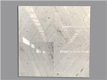 Van Gogh White Marble Slabs with Grey Vein