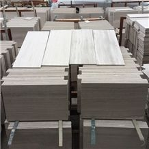 China Wooden White Marble Building Walling Wall Cladding Slab Tile with Polish Hone Antique Face