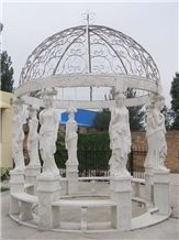 Marble Carved Gazebo, White Marble Gazebo