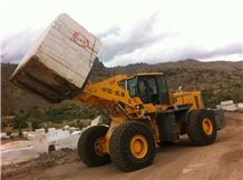 China 32t Stone Quarry Loader in Africa,Stone Block Handler Arrangement from China 32t Capacity Wsm973t32