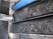 Black Limestone Laser Carving Relief