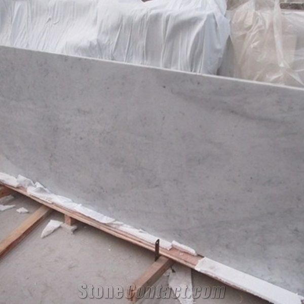 Bianco Carrara White Marble Polished Countertop Vanity Top With Beveled Edge Italy Countertops Kitchen Bathroom Decoration Worktops