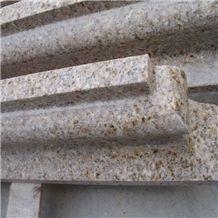 China Sunset Yellow G682 Granite Moldings & Border Liners/G682 Golden Yellow Granite Border Liners, China Yellow Granite Molding/G682 Granite Bullnose Molding