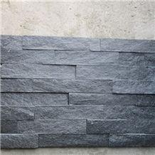 Natural Black Slate Stone Split Face Culture Stone,Black Cultured Stone for Wall Cladding, Stacked Stone Veneer/Thin Stone Veneer/Ledge Stone/Feature Stone/Beautiful Decor Stone