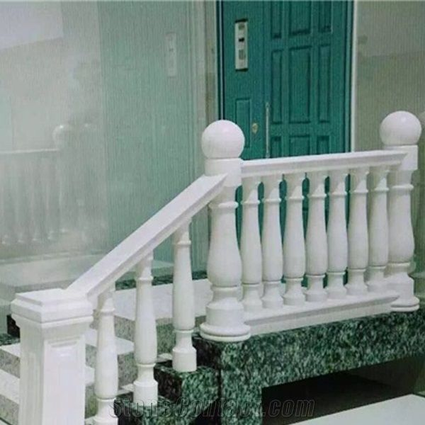 White Marble Balustrade Railings,China Pure White Marble ...
