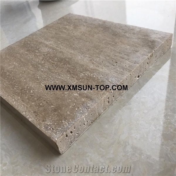 Honed Coffee Travertine Stone Tiles Cut To Sizehoned Coffee