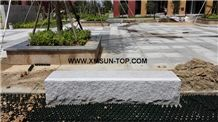 Xiamen Pink Granite Rectangle Garden Bench/Misty Rose Granite Exterior Furniture/Pearl Pink Granite Outdoor Benches/Lilac Pink Granite Outdoor Chair
