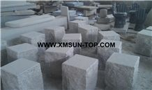 Xiamen Pink Granite Square Garden Bench/Misty Rose Granite Exterior Furniture/Pearl Pink Granite Outdoor Benches/Lilac Pink Granite Park Benches