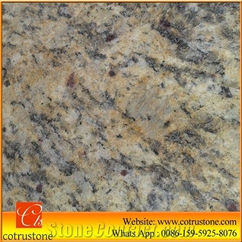 Giallo Cecilia Dark Granite Tile Brazil Yellow Est Price Polished Slabs Santa