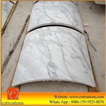 Middle White Marble Column,Natural Stone Column in Middle,Column-Middle Flower White,Hot Sale White Marble and Carrara White and Natural Decorative