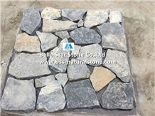 Blue Quartzite Little Tumbled Random Flagstone,Quartzite Crazy Stone,Blue Flagstone Wall,Quartzite Irregular Flagstones,Quartzite Flagstone Walkway Pavers,Flagstone Wall,Quartzite Flagstone Courtyard
