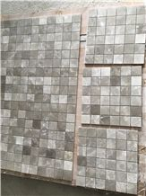 Multic Color China Natural Stone Grey Carrara White Crystal Marble Polished 48*48mm Mosaic Tiles for Wall,Bathroom
