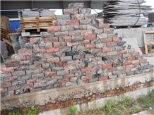 Chinese Cheap Multicolor Red Granite Natural Split Wallstone Wall Clading