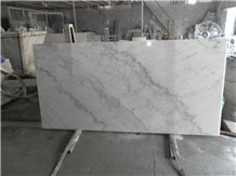 Chinese White Carrara Marble China Cloud White Guangxi White Lightening China Carrara White Marble Polished Table Tops