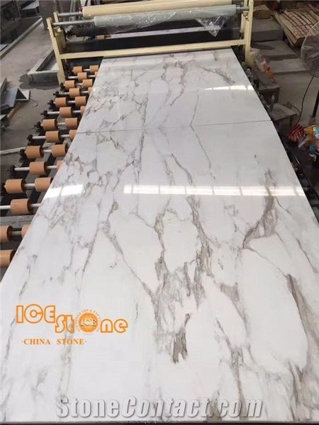 China Calacatta Marble Slabs High Quality White Chinese Tile Flooring And Wall Coverting Slab Tiles Natural Calaeatta