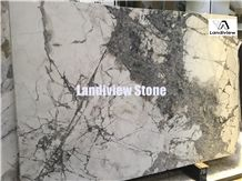 Invisible White Grey Marble Slabs & Tiles