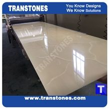 Solid Surface Faux Lemon Artificial Onyx High Gloss Polished Slabs Tile for Wall,Flooring Countertop,Interior Building Material Glass Stone Translucent