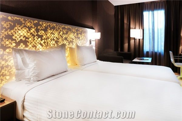 Translucent Crystal Beige Artificial Solid Surface Onyx