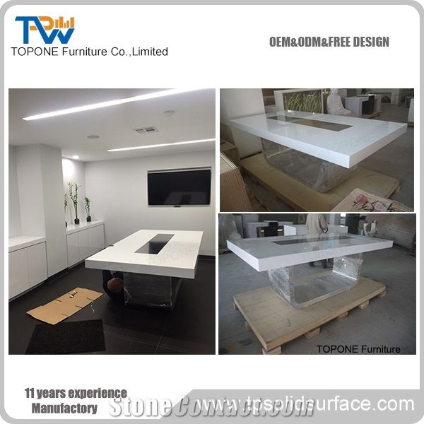 Artificial Marble Stone Modern Design Board Room Conference Table - Conference room table tops
