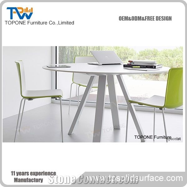 Artificial Marble Stone Modern Small Round Office Conference Table - Small round office conference table