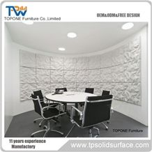 Artificial Marble Stone Modern Small Round Office Conference Table - Small round meeting table and chairs