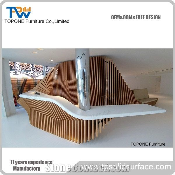 Fancy Design Corian Acrylic Solid Surface Office Front