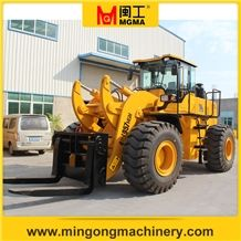 Stone Block Handler Forklift Wheel Loader Mgm957 Capacity 18 Ton 20 Ton