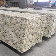 Giallo Ornamental Granite Countertops, Prefab Countertops, Brazil Granite Kitchen Tops, Laminated Bullnosed Countertops