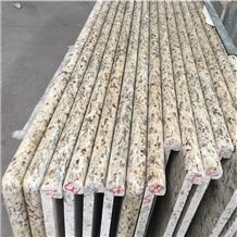 Giallo Ornamental Prefab Countertops, Prefabricated Countertops, Brazil Prefab Tops, Laminated Bullnosed Edges Countertops