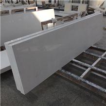 White Quartz Kitchen Countertop, Prefab Quartz Countertops, Prefabricated Quartz Tops, Laminated Eased Edges Countertops