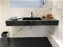 Labrador Black Granite Custom Bath Top