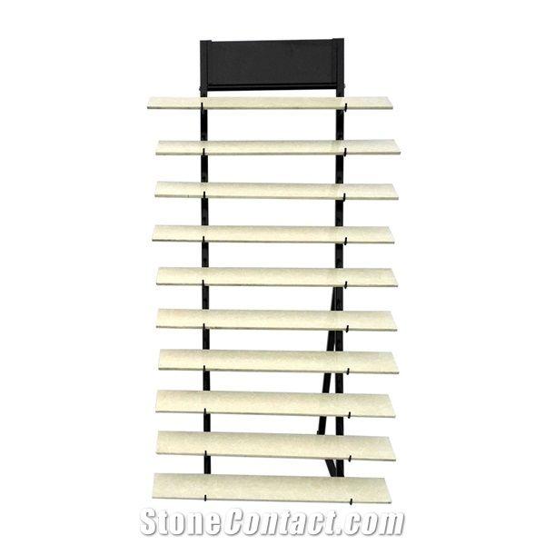 Metal Display Stand Racks Ceramic Tile Shelf Quartz Sample Board