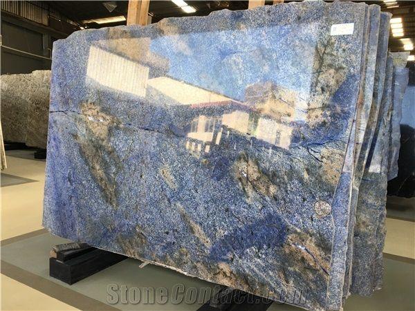 Azul Bahia Granite Slabs Brazil Exotic Blue Slabs Blue
