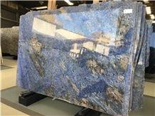 Azul Bahia Granite Slabs/ Brazil Exotic Blue Slabs/ Blue Bahia Tiles