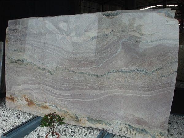 Natural Aquarella Quartzite Slabs Landscape Painting