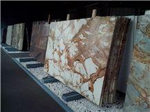 Roma Imperial/Roman Empire/Beautiful Yellow Brazil Quartzite Slabs for Countertops/ Interior Wall