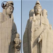 G603 Grey Granite Stone Art Work, Pink Sandstone Artifacts & Handcrafts Guanyin Carving Kwan-Yin,Sculptures Avalokitesvara,Gods Sculptures