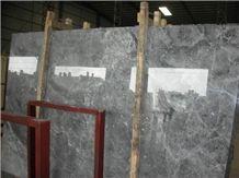 Silver Sable Marble Tiles Slabs, Hunan Grey Marble, Silver Ermine Marble, Silver Marten, Silver Mink Polished Marble