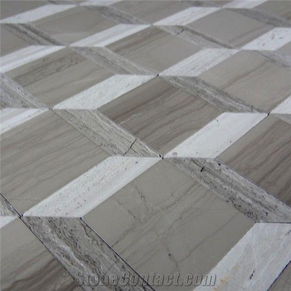 Nature Marble Wooden Vein Grey Seamless Mosaic Tile For Bathroom Jpg 600x600 Floor