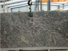 Polished China Juparana Grey Granite Big Slabs