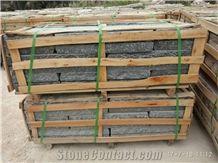 G654 Dark Grey Granite Chiseled Face Cube Stone Pavers, China Impala Black Granite Cube Stone & Pavers,Sesame Grey Granite Road Walkway Paving Sets,Surface Customzied