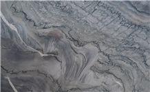 Nuvolato Fantasy Quartzite, Blueish Quartzite, Polished Resined Slabs Blue Grey