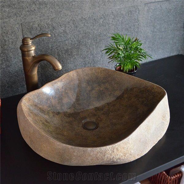 Antique Stone Basin Irregular Sink Natural Stone Basin