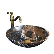 King Gold Marble Brown and Black Color Round Basin,Natural Stone Basin, Kitchen Sinks, Bathroom Sinks, Wash Bowls,China Hand Made Bathroom Washing Basin,Counter Top and Vanity Top Sink, Own Factory Wi