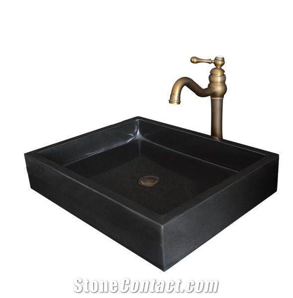 Shanxi Black Granite Square And Rectangle Sink Natural