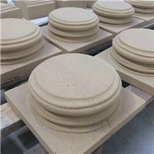 Beige Sandstone Caps Stone Quoin