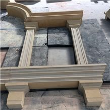 Beige Window Sill Sandstone Door Frame Sandstone Door Surround Beige Sandstone Door Arch
