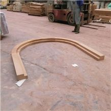 Sandstone for Window Sill and Door Sill Hand Craved Sculpture