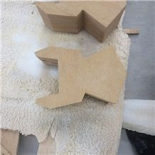 Yellow Wood Sandstone Sculpture Stone Quoin for Building