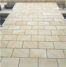 Yellow Wood Sandstone Tiles Sandstone Slabs for Floors and Walls